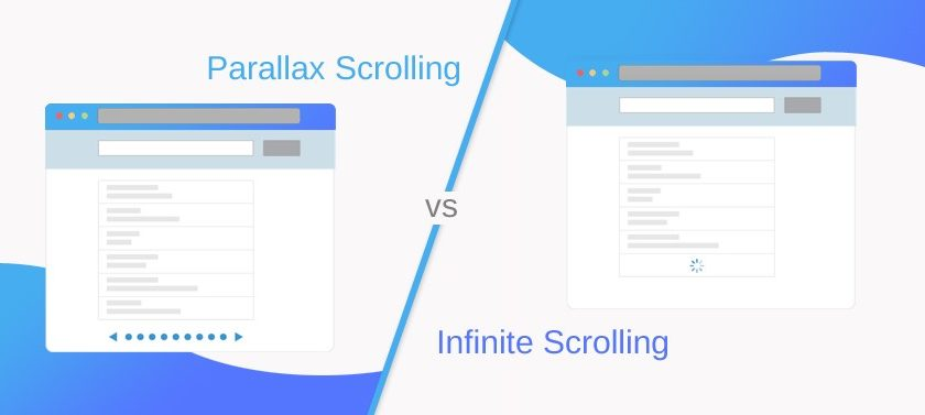 Parallax Scrolling vs Infinity Scrolling